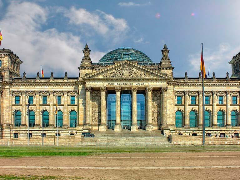 Reichstag, el edificio del parlamento.
