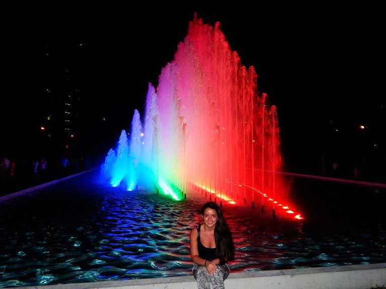 Mojarse en las fuentes de Lima