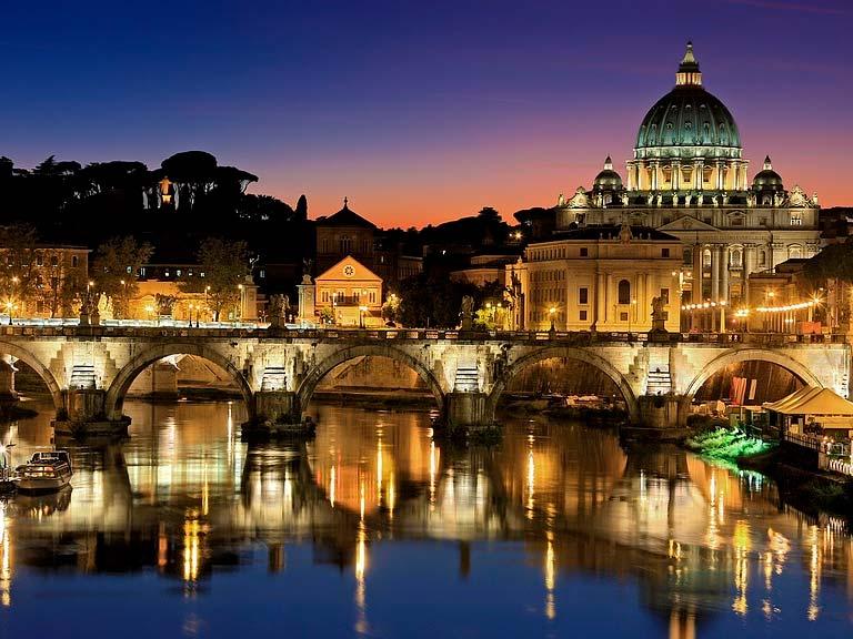 Tour Nocturno a pie hacia el Vaticano